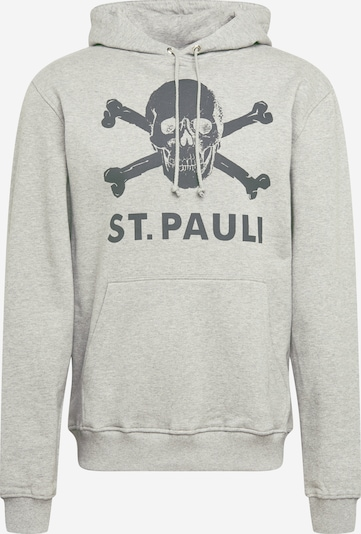 Bluză de molton FC St. Pauli pe gri / negru amestecat, Vizualizare produs