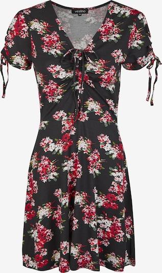 Vestino Kleid in pink / rot / schwarz / weiß, Produktansicht