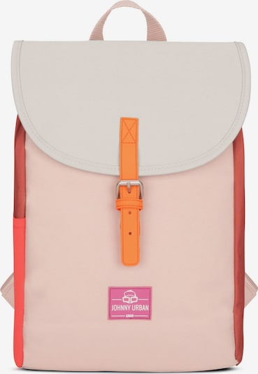 Johnny Urban Backpack 'Liam' in Light grey / Pink / Red, Item view