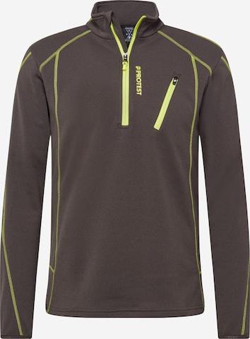 PROTEST Sportsweatshirt 'Humans' i brun