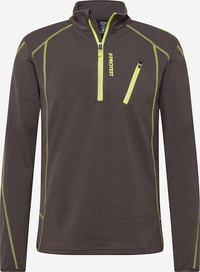 PROTEST Functioneel shirt 'Humans' in de kleur Chocoladebruin / Limoen, Productweergave