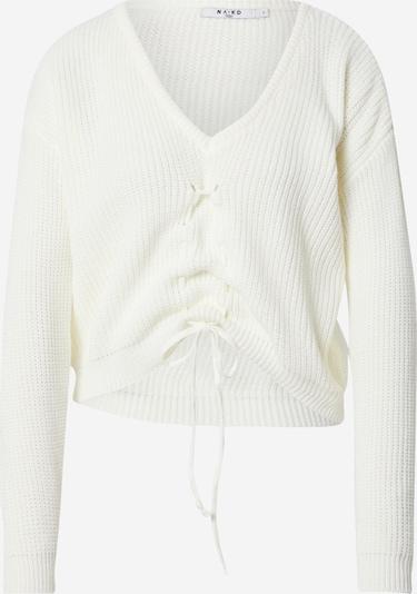 NA-KD Pulover u bijela: Prednji pogled