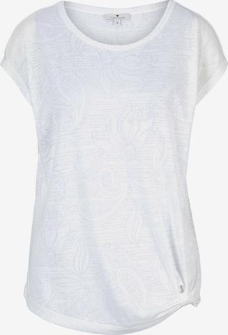 TOM TAILOR T-Shirt in Weiß
