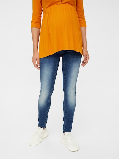 MAMALICIOUS Jeans in blue denim: Frontalansicht