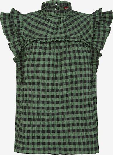 Aligne Bluse 'Enya' in grün / schwarz, Produktansicht