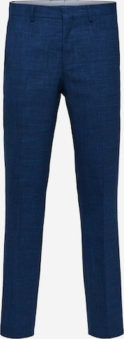 SELECTED HOMME Bukse med strykepress i blå