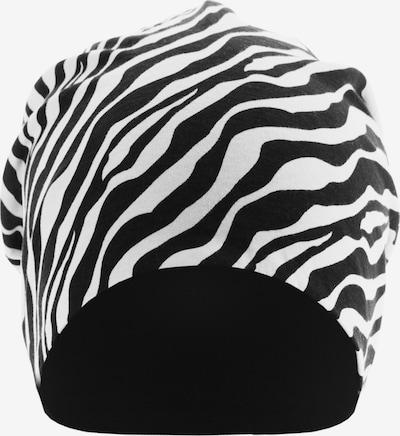 MSTRDS Bonnet ' Printed Jersey Beanie ' en noir / blanc, Vue avec produit