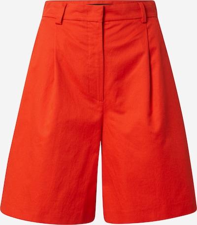 Weekend Max Mara Bandplooibroek 'VISINO' in de kleur Sinaasappel, Productweergave