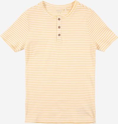 NAME IT Koszulka 'SOLO' w kolorze złoty żółty / naturalna bielm, Podgląd produktu