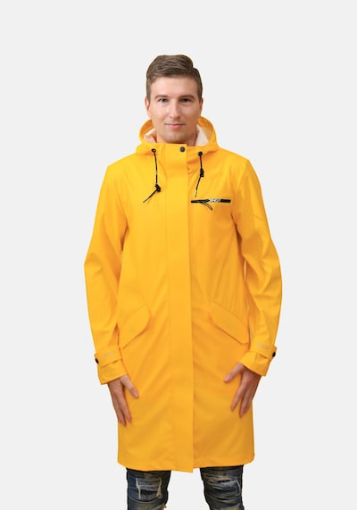 Dingy Rhythm Of The Rain Regenmantel 'BRUCE' in gelb, Modelansicht