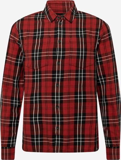 tigha Hemd 'Loan' in rot / schwarz / weiß, Produktansicht