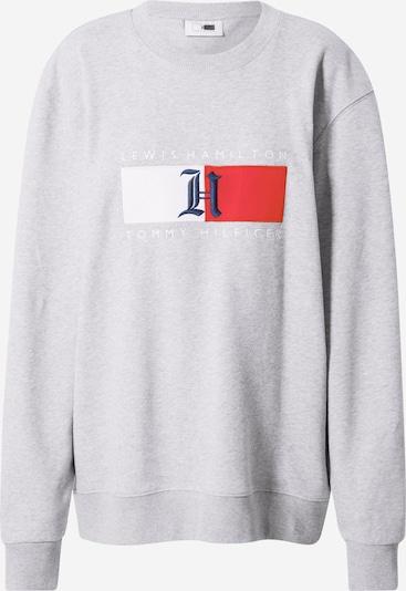 TOMMY HILFIGER Sweatshirt 'Lewis Hamilton' in de kleur Navy / Lichtgrijs / Rood / Wit, Productweergave
