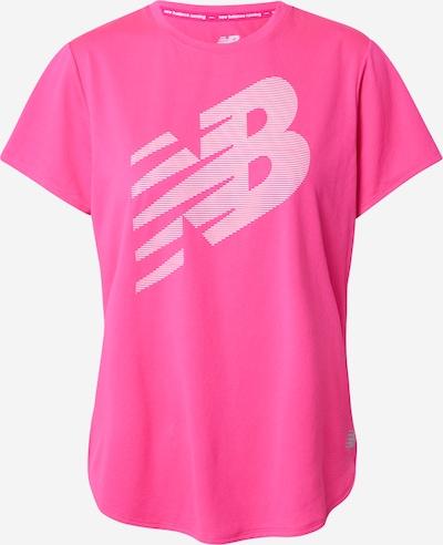 new balance Sportshirt in dunkelpink / weiß, Produktansicht