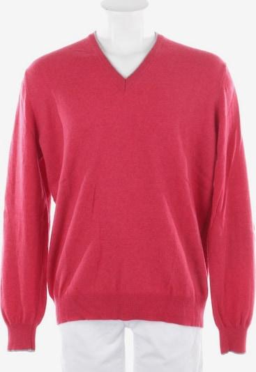 Gran Sasso Strickpullover in L-XL in grau / rot, Produktansicht