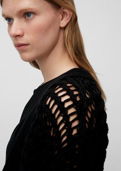 Marc O'Polo Pure Gebreid vest in de kleur Zwart, Productweergave