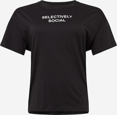 Noisy May Curve Shirt 'Measy' in de kleur Zwart: Vooraanzicht