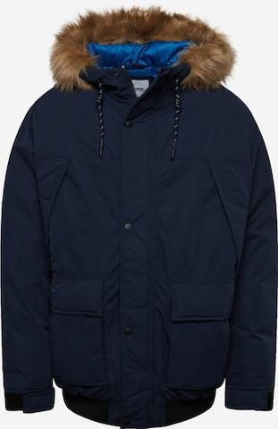 Jack & Jones Plus Between-Season Jacket 'Super' in Blue