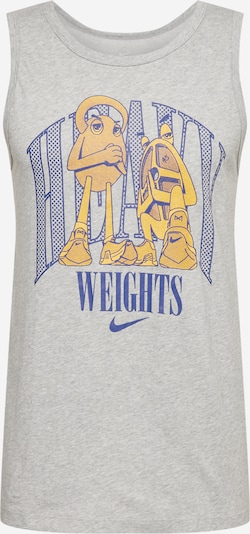 NIKE T-Shirt fonctionnel en jaune d'or / gris chiné / bleu violet, Vue avec produit
