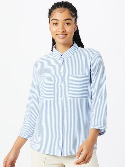 TOM TAILOR Blouse in de kleur Blauw / Wit, Modelweergave