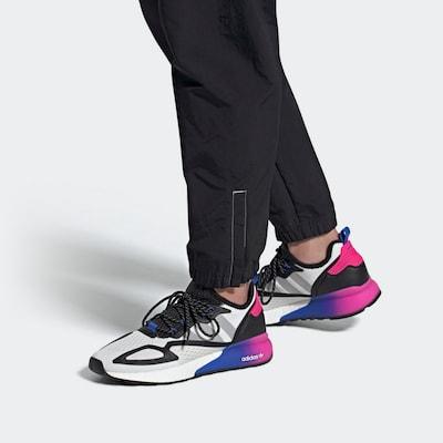 ADIDAS ORIGINALS Sneaker 'ZX 2K Boost' in blau / pink / schwarz / weiß: Frontalansicht
