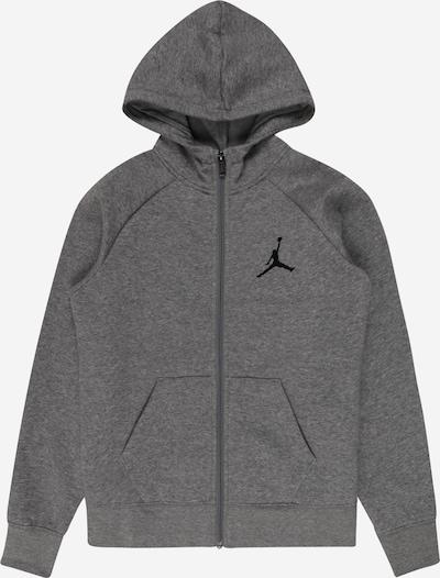 Jordan Sweat jacket in mottled grey / Black, Item view