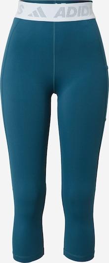 ADIDAS PERFORMANCE Спортен панталон в петрол / бяло, Преглед на продукта