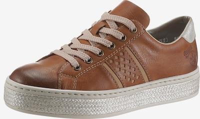 Sneaker low RIEKER pe maro / argintiu, Vizualizare produs