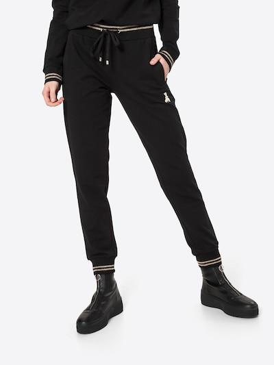 Pantaloni PATRIZIA PEPE di colore oro / nero, Visualizzazione modelli