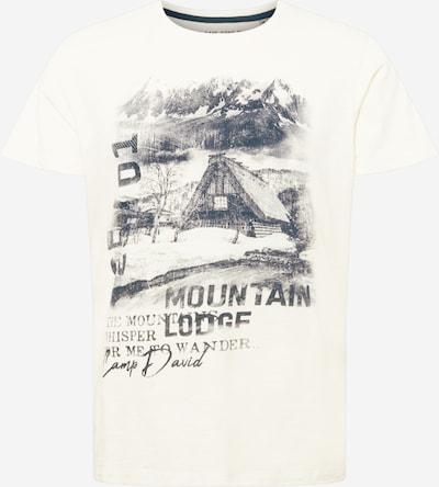 CAMP DAVID T-Shirt - (GOTS) in navy / naturweiß, Produktansicht