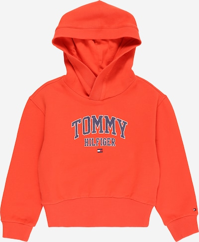 TOMMY HILFIGER Sweatshirt en nachtblau / orangerot / weiß, Vue avec produit