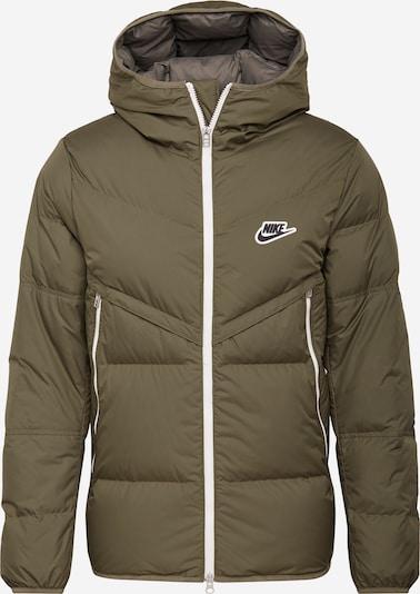 Nike Sportswear Daunenjacke 'Windrunner' in khaki / weiß, Produktansicht