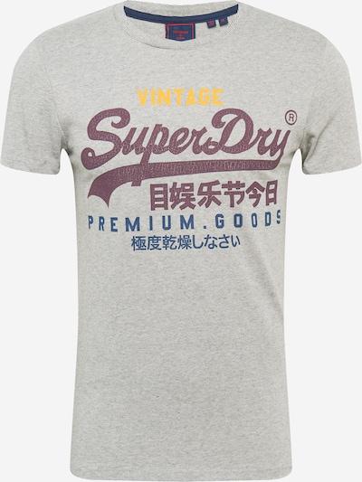 Superdry Shirt in de kleur Nachtblauw / Geel / Grijs / Bordeaux, Productweergave