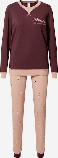 Skiny Pyjama 'Morning Stretching' in de kleur Aubergine / Rosa, Productweergave