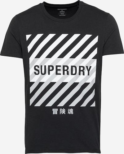 Superdry Функционална тениска в черно / бяло, Преглед на продукта