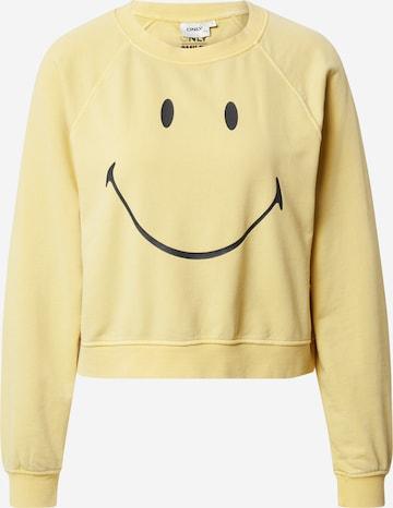 ONLY Sweatshirt in Gelb