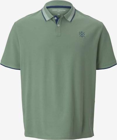 TOM TAILOR Men + Poloshirt in blau / grün, Produktansicht