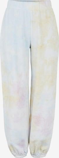 PIECES Hose 'PINAR' in hellblau / pastellgelb / rosa / weiß, Produktansicht