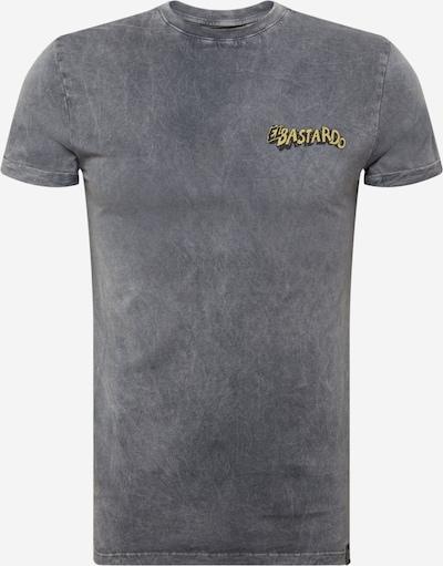 King Kerosin T-Shirt en jaune / gris fumé / blanc, Vue avec produit