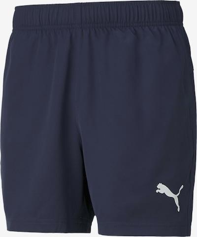 PUMA Sportbroek in de kleur Nachtblauw / Wit, Productweergave