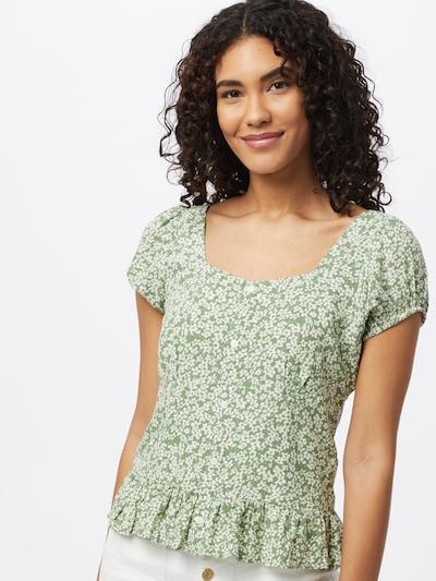 ONLY Bluse 'DAVIE' in grün / weiß, Modelansicht