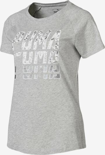 PUMA T-Shirt in grau / weiß, Produktansicht
