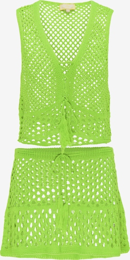 MYMO Top und Rock in neongelb / grün / neongrün, Produktansicht
