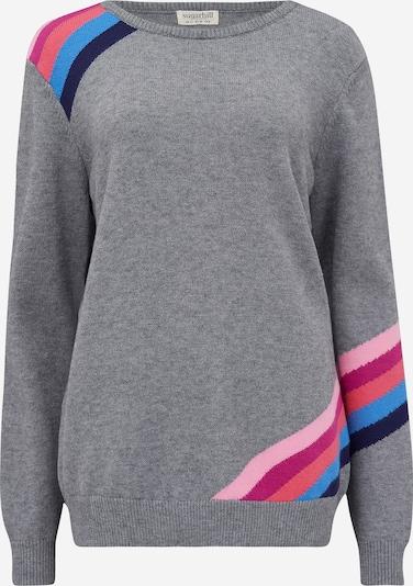 Pulover 'Stacey' Sugarhill Brighton pe albastru / gri amestecat / roz, Vizualizare produs