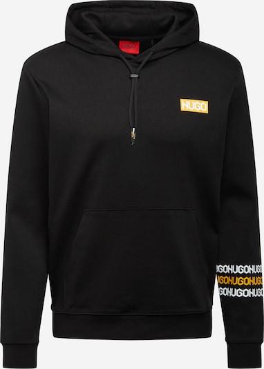 HUGO Sweat-shirt 'Dozzi' en orange clair / noir / blanc, Vue avec produit