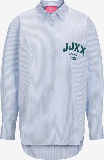 JJXX Bluse 'Jamie' in hellblau / smaragd / weiß, Produktansicht