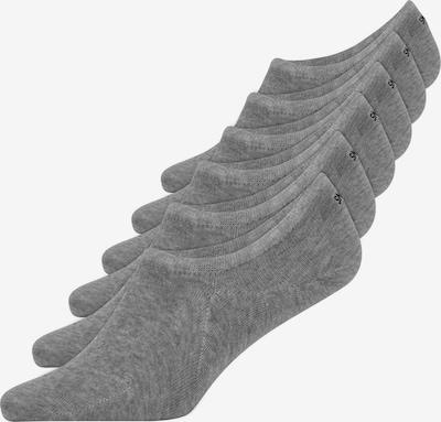 SNOCKS Füßlinge in grau: Frontalansicht