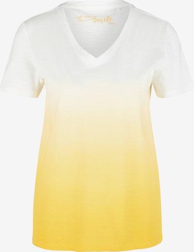 s.Oliver Shirt in gelb / weiß, Produktansicht