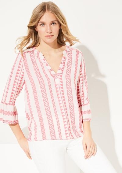 COMMA Bluse in rosa / weiß, Modelansicht