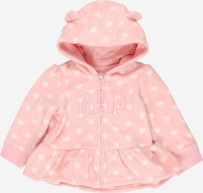 GAP Flis jakna 'Arch' u roza / bijela, Pregled proizvoda