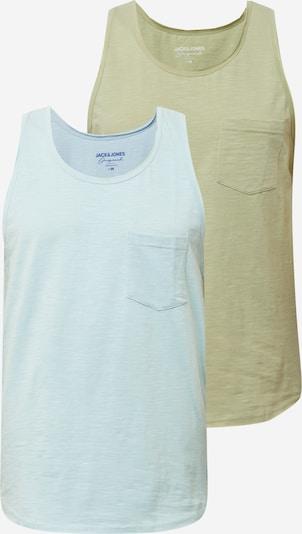 JACK & JONES Tričko - světlemodrá / khaki, Produkt